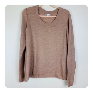 GAP Mauve Pink Scoop Neck Wool Blend Knit Sweater